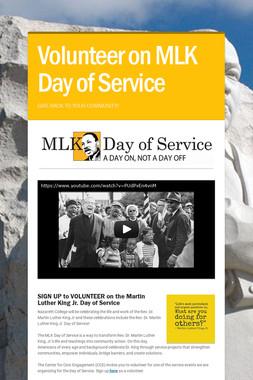 Volunteer on MLK Day of Service