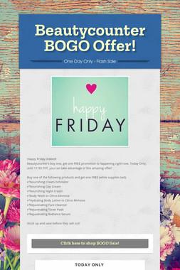 Beautycounter BOGO Offer!