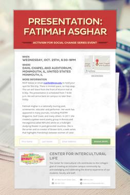 Presentation: Fatimah Asghar