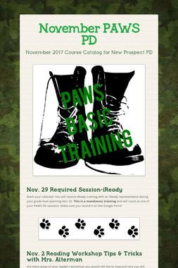 November PAWS PD