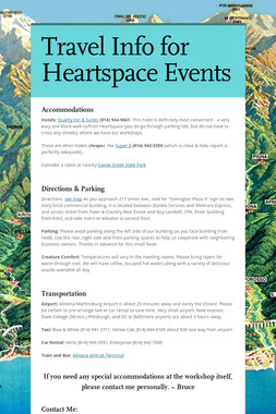 Travel Info for Heartspace Events