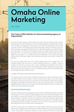 Omaha Online Marketing