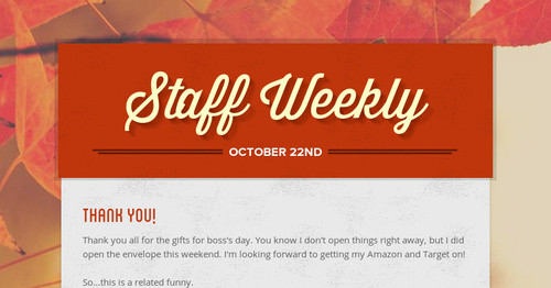 Staff Weekly | Smore Newsletters for Education