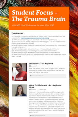 Student Focus - The Trauma Brain
