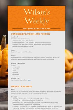 Wilson's Weekly