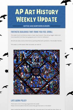 AP Art History Weekly Update