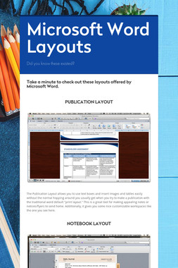 Microsoft Word Layouts