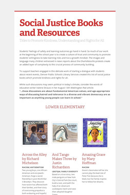 Social Justice Books and Resources
