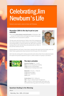 Celebrating Jim Newburn's Life