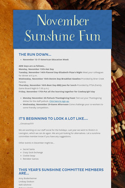 November Sunshine Fun