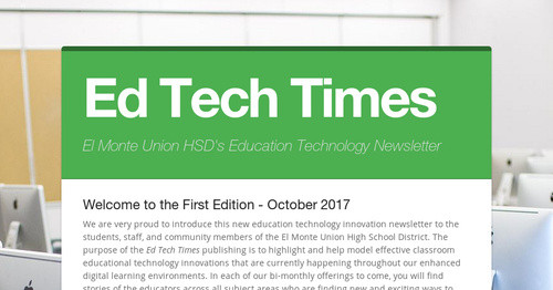 Ed Tech Times | Smore Newsletters for Education