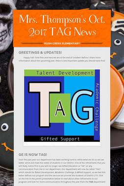 Mrs. Thompson's Oct. 2017 TAG News