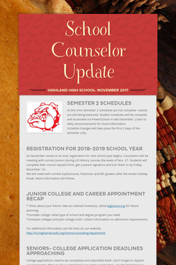 School Counselor Update