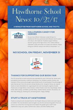 Hawthorne School News: 10/27/17
