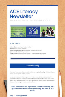 ACE Literacy Newsletter
