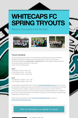 WHITECAPS FC SPRING TRYOUTS