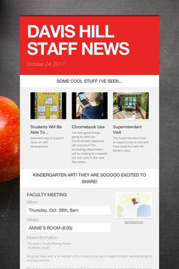 DAVIS HILL STAFF NEWS