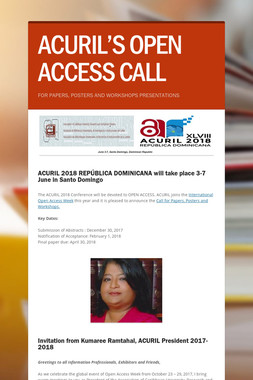 ACURIL'S OPEN ACCESS CALL