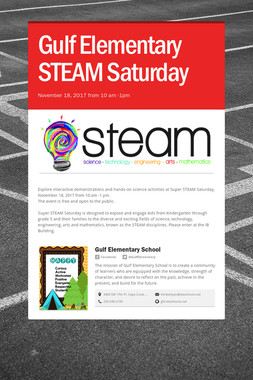 Gulf Elementary STEAM Saturday