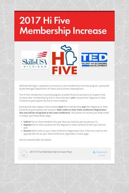 2017 Hi Five Membership Increase
