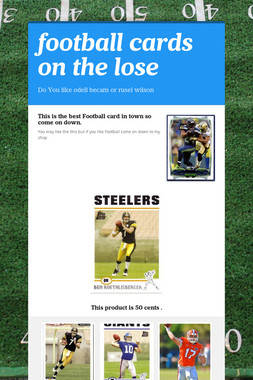 football cards on the lose
