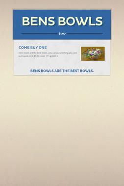 bens bowls