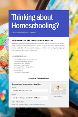 Thinking about Homeschooling?