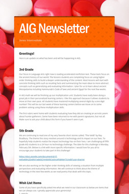 AIG Newsletter