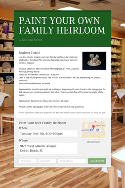 PAINT YOUR OWN FAMILY HEIRLOOM