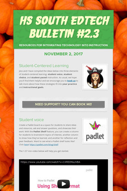 HS South EdTech Bulletin #2.3
