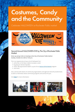 Costumes, Candy and the Community