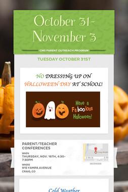 October 31-November 3
