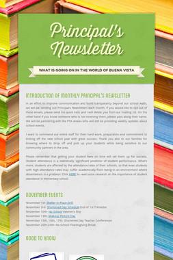 Principal's Newsletter