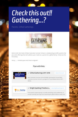 Check this out!! Gathering...?
