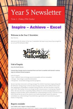 Year 5 Newsletter