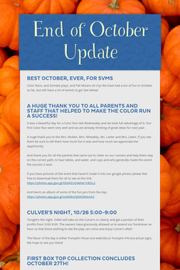 End of October Update