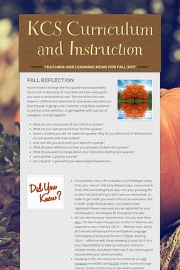 KCS Curriculum and Instruction