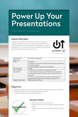 Power Up Your Presentations