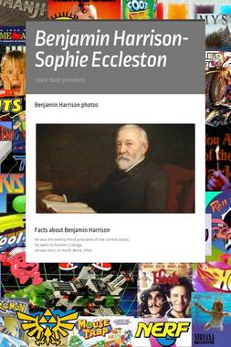Benjamin Harrison- Sophie Eccleston