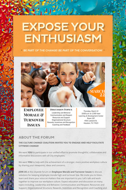 Expose Your Enthusiasm