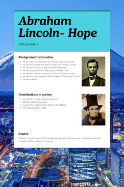Abraham Lincoln- Hope