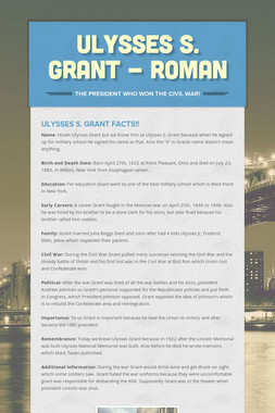 Ulysses S. Grant - Roman