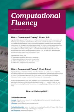 Computational Fluency