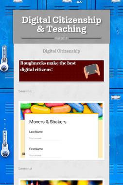 Digital Citizenship & Teaching