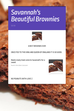 Savannah's Beautiful Brownies