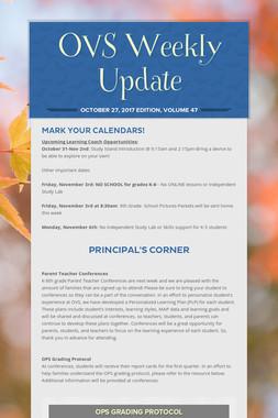 OVS Weekly Update