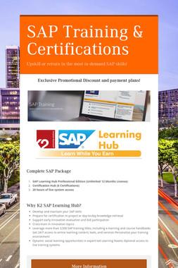 SAP Training & Certifications