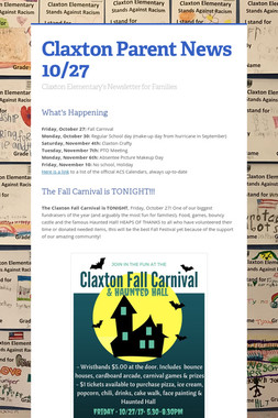 Claxton Parent News 10/27