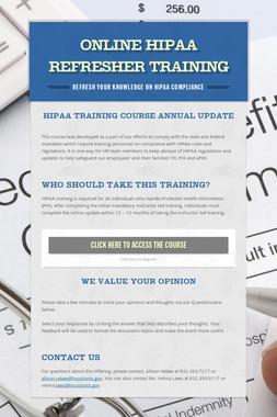 Online HIPAA Refresher Training