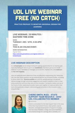 UDL Live Webinar free (no catch)